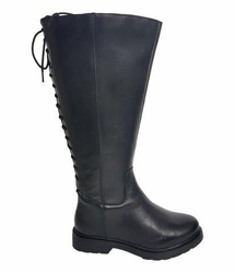 Sarjevo Super Wide Calf Ladies Boot Black Nappa