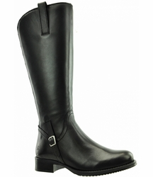 Sydney Extra Wide Calf Ladies Boot Black Nappa Capri