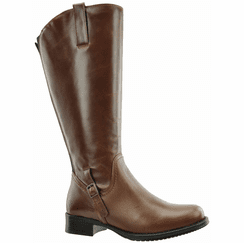 Sydney Extra Wide Calf Ladies Boot Cognac Street