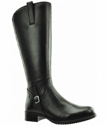 Sydney Super Plus Wide Calf Ladies Boot Black Nappa Capri