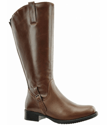 Sydney Super Plus Wide Calf Ladies Boot Cognac Street