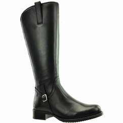 Sydney Super Wide Calf Ladies Boot Black Nappa Capri