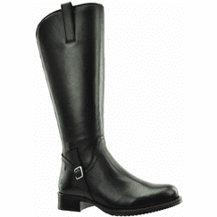 Sydney Wide Calf Ladies Boot Black Nappa Capri