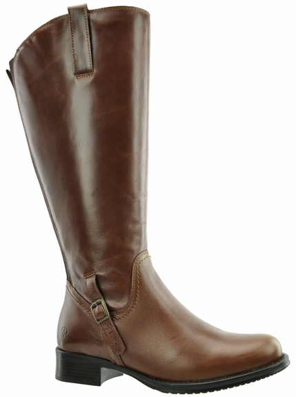Sydney Wide Calf Wide Calf Ladies Boot Cognac Street