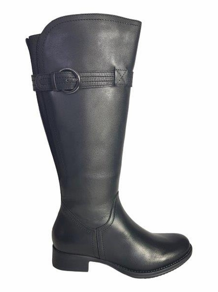 Victoria Extra Wide Calf Ladies Boot Black Cow Nappa
