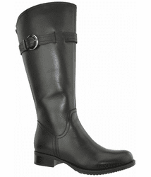 Victoria Super Wide Calf Ladies Boot Black Cow Nappa