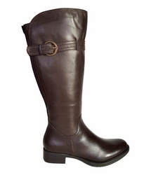 Victoria Super Wide Calf Ladies Boot Espresso Cow Nappa
