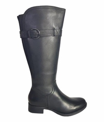 Victoria Wide Calf Wide Calf Ladies Boot Black Cow Nappa