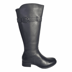 Victoria Wide Calf Ladies Boot Black Cow Nappa