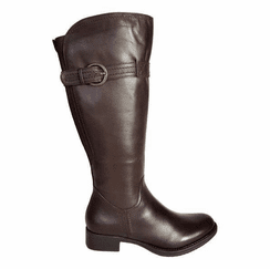 Victoria Wide Calf Ladies Boot Espresso Cow Nappa