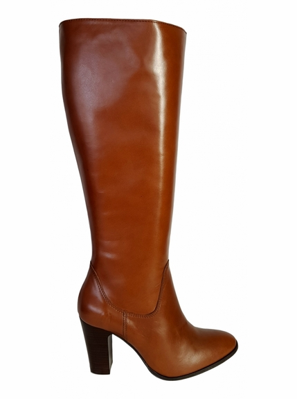 Wakefield Extra Wide Calf Ladies Boot Cognac Street