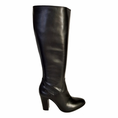 Wakefield Wide Calf Ladies Boot Black Silk