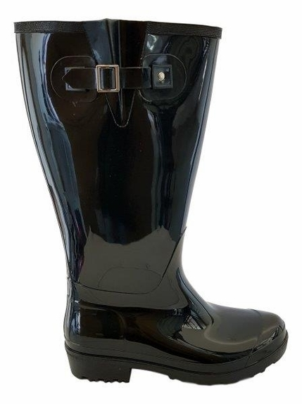 Wellies Extra Wide Calf Extra Wide Calf Ladies Boot Black PVC