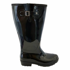 Wellies Extra Wide Calf Ladies Boot Black PVC