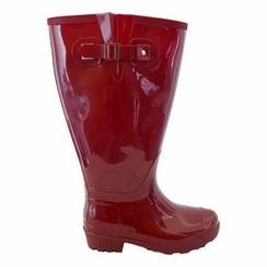 Wellies Super Wide Calf Super Wide Calf Ladies Boot Red PVC