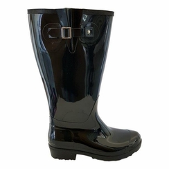 Wellies Wide Calf Wide Calf Ladies Boot Black PVC