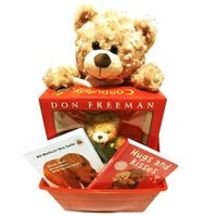 Teddy Bears Baby Gift Basket: Gender Neutral Design