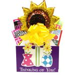 Thinking of You Gift Basket for Her with Book