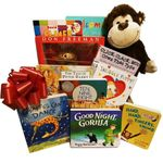 Newborn Gift Basket Unisex Design: Baby's First Library