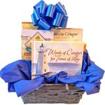 Sympathy Gift Basket with Words of Comfort Book and Gourmet Food