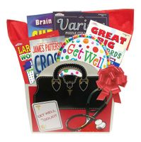 No Food Get Well Gift Basket with Books