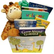Wild for Baby Animal Theme Newborn Gift Basket