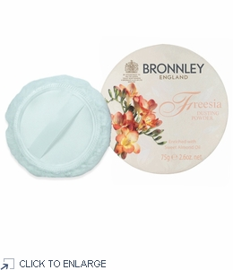 Bronnley Freesia Dusting Powder 75g with Puff  - limited supply - 20% Off