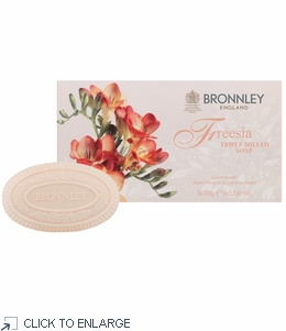 Bronnley Freesia Hand Soap Box/3 Bars  - limited supply - 20% Off