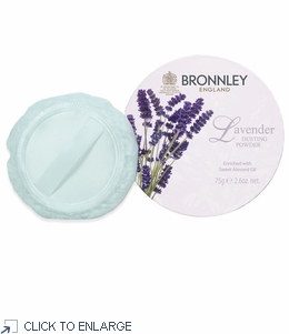 Bronnley Lavender Dusting Powder with Puff  - limited supply - 20% Off
