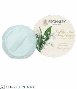 Bronnley Lily of the Valley Dusting Powder 75g with Puff - limited supply - 20% Off