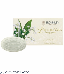 Bronnley Lily of the Valley Hand Soap Box/3 Bars - limited supply - 20% Off