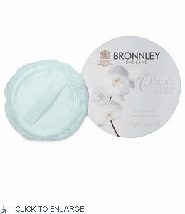 Bronnley Orchid Dusting Powder with Puff - limited supply - 20% Off