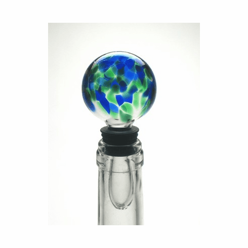 Henrietta Glass - Blue Green Mix Wine Stopper