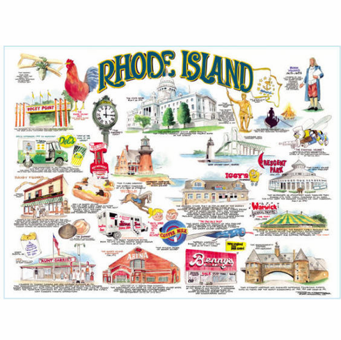 Icons of Rhode Island Lithograph