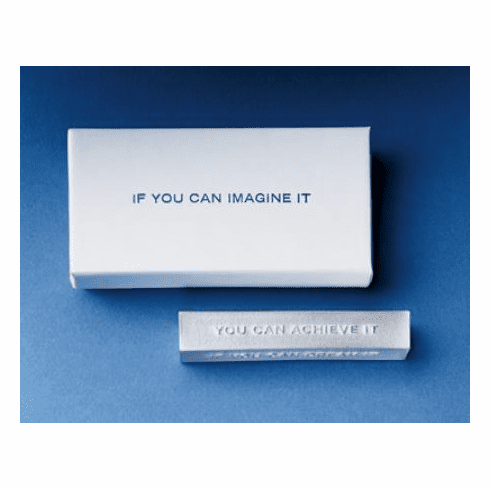 """Imagine, Dream"" Inspirational Vilmain Paperweight"