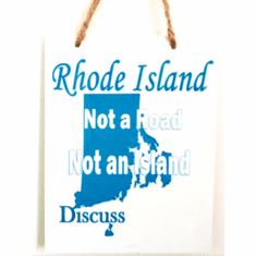 Not A Road, Not An Island...Metal Sign