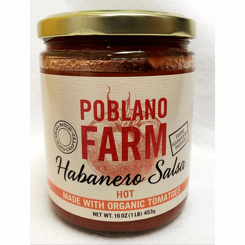 Poblano Farms Habanero Salsa, 16oz