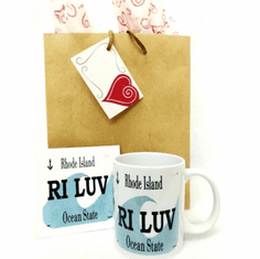 RI Luv Mug & Coaster
