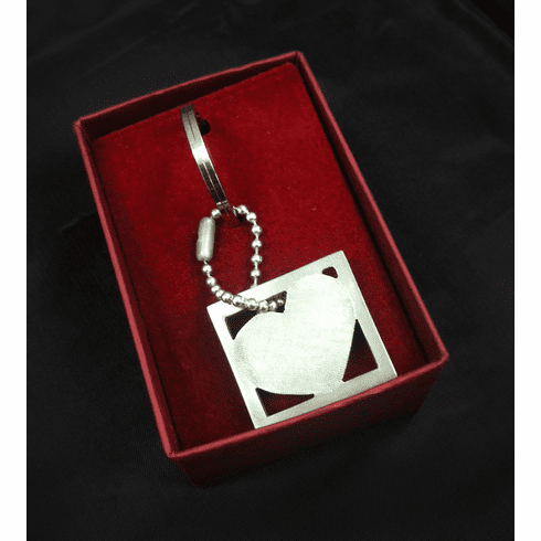 Square Heart Keychain