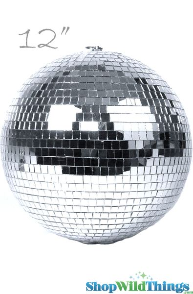 "12"" Mirror Disco Ball w/ Swivel Top"