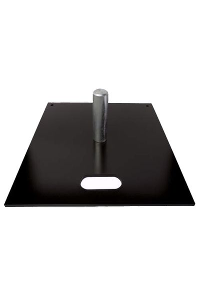 "18"" x 18"" Black Powder Slip Fit Base with 6"" x 2"" Pin"