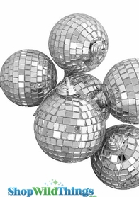 Mirror Disco Ball Ornaments - Set of 6