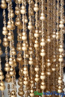 """Aberdeen"" Double Bubble Shaped Beaded Curtains"