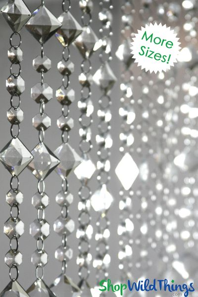 """Crystal Beaded Curtains """"Aces & Eights"""" (2 Sizes: 6-12 Feet Long)"""