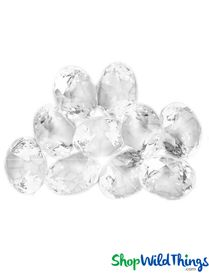 "Acrylic Diamond ""Dazzler"" - Clear 1lb Bag 255Pc - 3/4"""