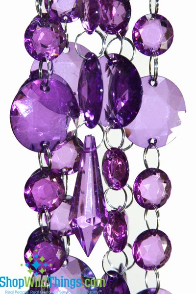 COMING SOON! Acrylic Garland Strands - Purple Rounds (1 dozen strands)