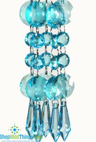 Acrylic Garland Strands - Turquoise Rounds (1 dozen strands)