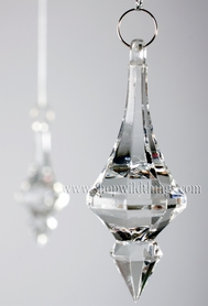 "Acrylic Pendant 3""  long  ""Carrie""  Set of 24 for Wedding Trees & Chandeliers!"