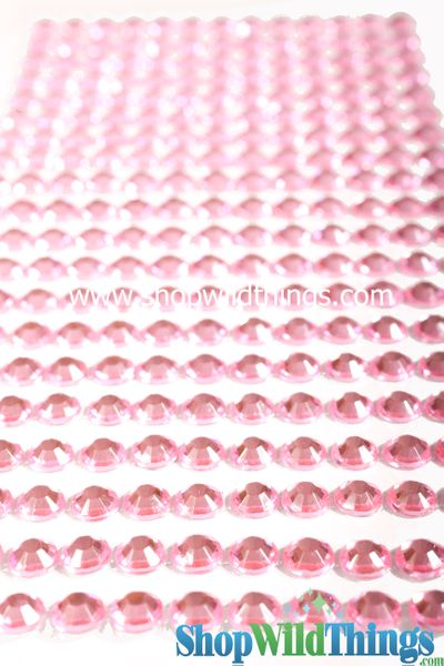 COMING SOON! Acrylic Rhinestone Stickers-Pink - Strips with 260 Pcs!