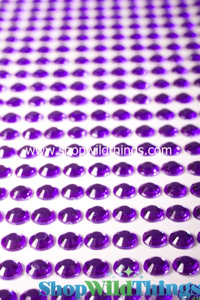 COMING SOON! Acrylic Rhinestone Stickers-Purple - Strips with 260 Pcs!
